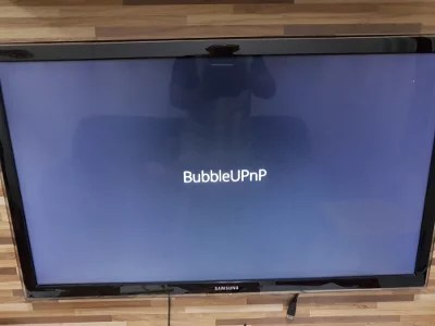 BubbleUPnP abrindo no Chromecast