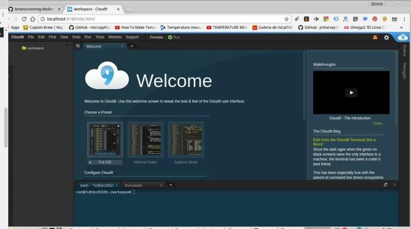 Interface de desenvolvimento
