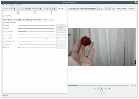 GUI para OpenCV
