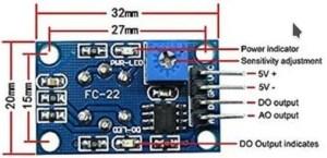 Sensor MQ-6 para gás - pinout