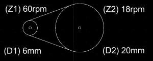 como calcular RPM - exemplo 1