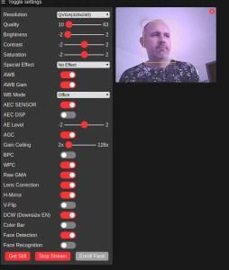 face recognition com ESP32-CAM