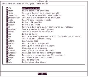 Hat LoRa para Raspberry Pi - menu de recursos extras