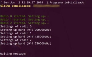 Hat LoRa para Raspberry Pi - modo verboso