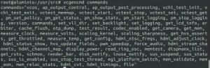 vcgencmd commands