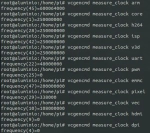 vcgencmd measure_clock