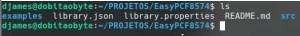 estrutura de diretórios ao criar uma biblioteca para Arduino