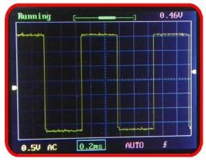 Osciloscópio digital DSO138 - onda correta
