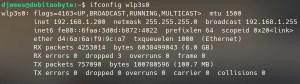Diagnóstico de rede no Raspberry - ifconfig