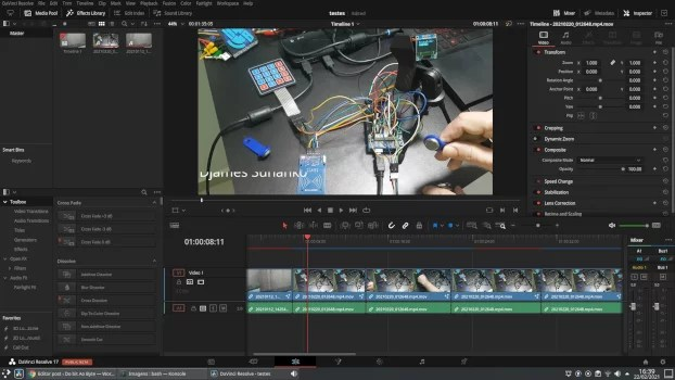 editores de vídeo grátis - Da Vinci Resolve