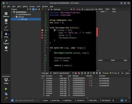 função recursiva em C++