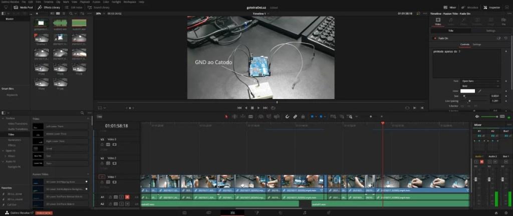 converter vídeo para o Da Vinci resolve