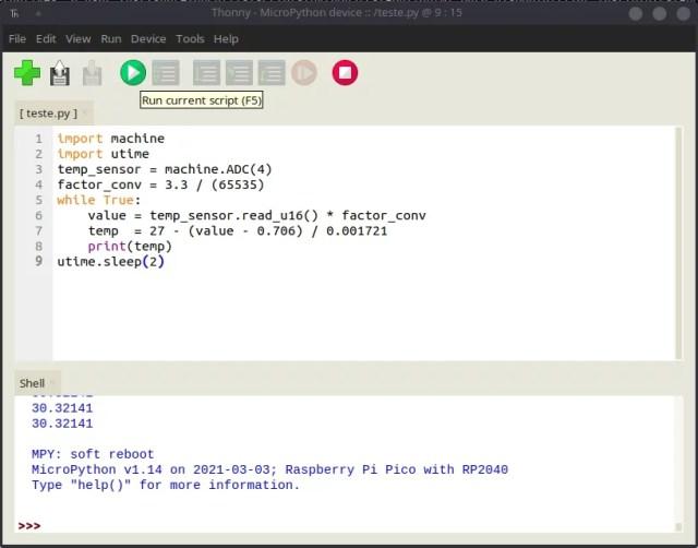 MicroPython na Raspberry com Thonny
