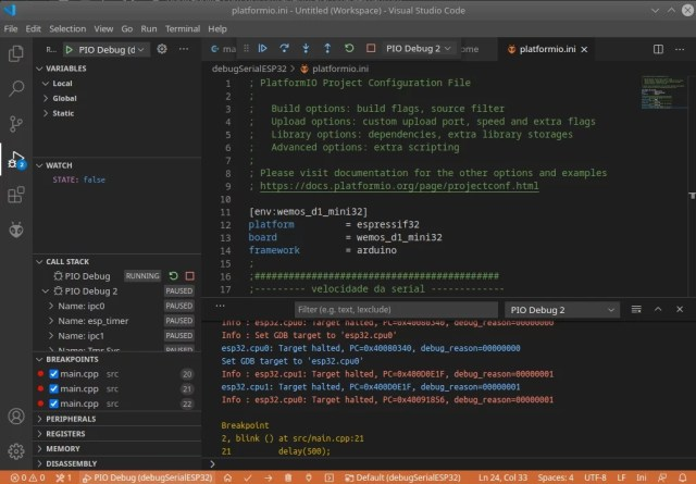 ESP32 no VS Code