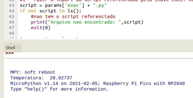 boot manager na RPi Pico - resultado