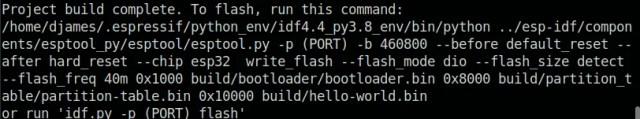 flash | configurar o ESP-IDF