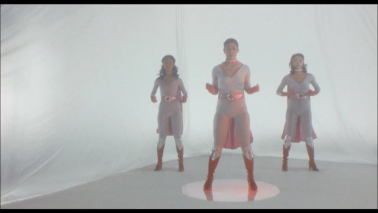 Super women! Transform! The garbage bag background will save us @ 6:38