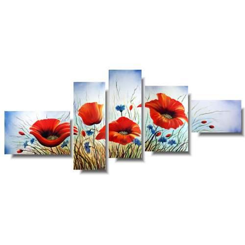 duży obraz kwiaty wiosenna łąka