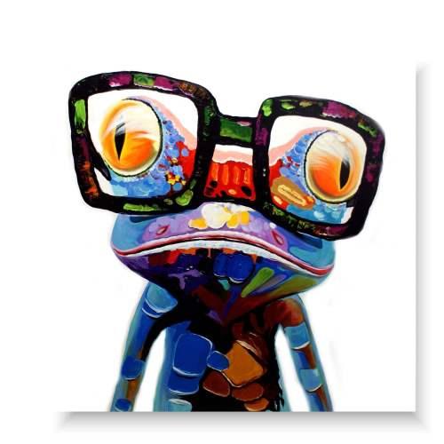obraz abstrakcyjny stylowa żaba