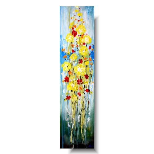 obraz nowoczesny kwiaty letnie