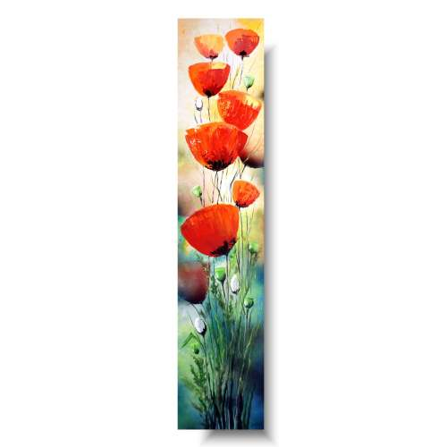 Obrazy nowoczesne kwiaty maki