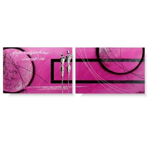 Obraz z postaciami różowa namiętność