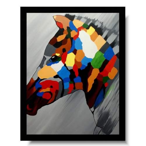 Obraz zebra w kolorze obrazy zwierzęta do nowoczesnego wnętrza 1647A