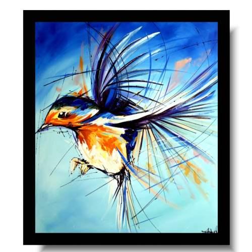 Obraz zwierzęta ptaszek na wietrze obrazy ręcznie malowane 1696A
