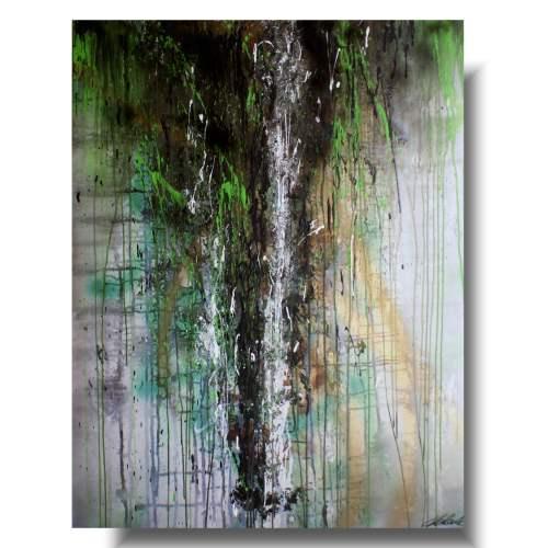 Abstrakcja obraz wiosenny deszcz