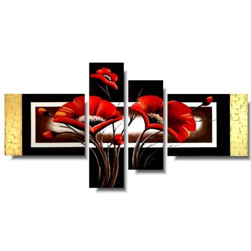 Czerwone maki obraz kwiaty
