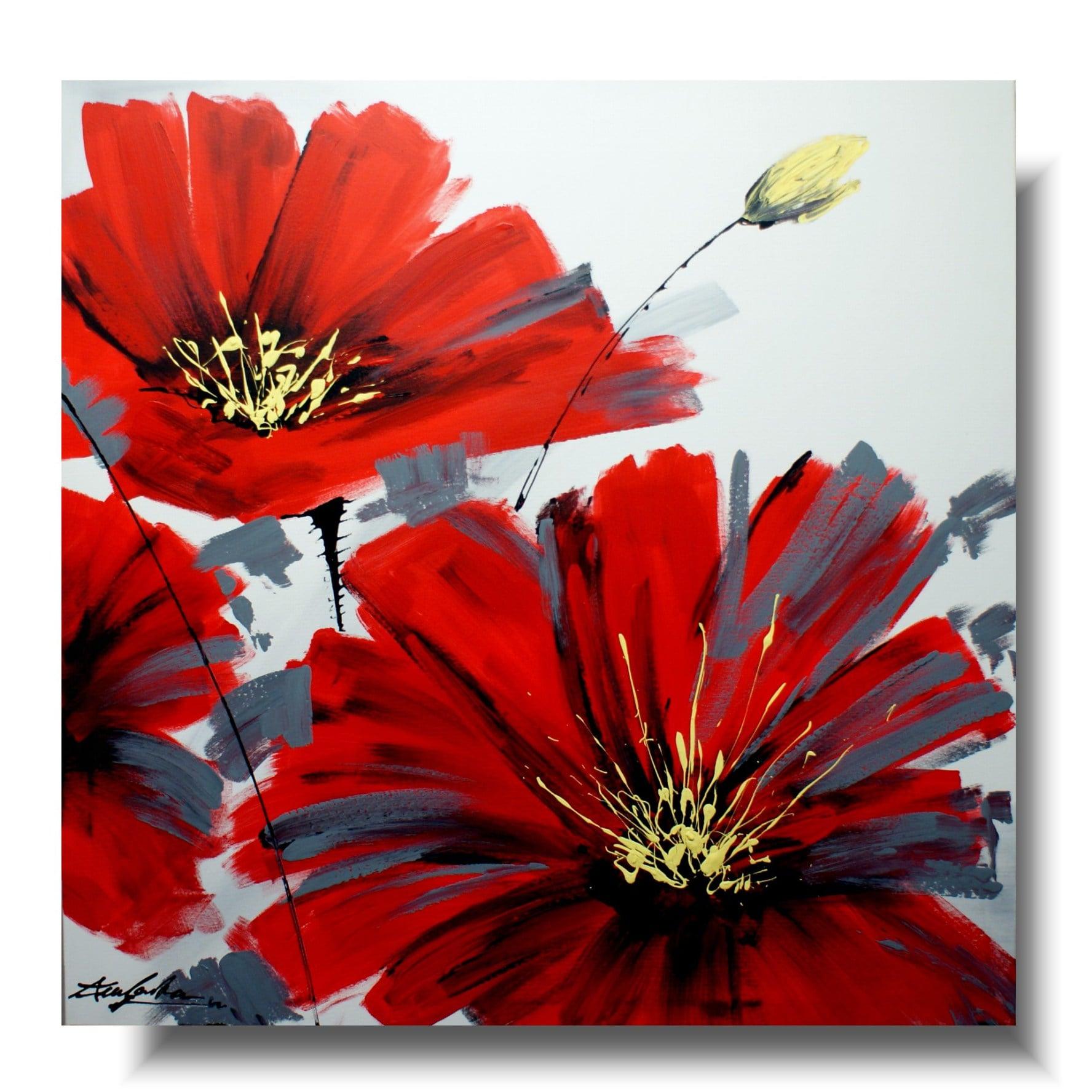 Duży Obraz Czerwony Kwiat Obrazy Kwiaty Na Płótnie 1235a