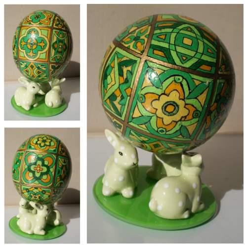Jajko strusia malowane strusie jajo