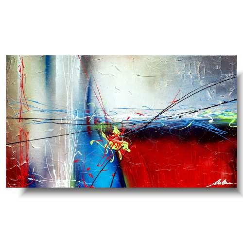 Nowoczesna abstrakcja obraz barwny powiew