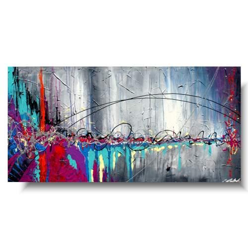 Nowoczesny obraz abstrakcja kolorowa radość