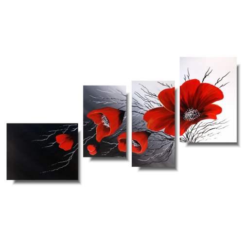 Nowoczesny obraz czerwone maki