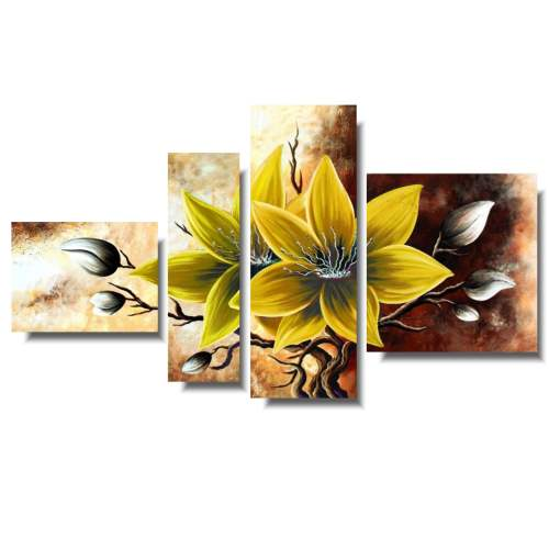 Obraz z kwiatami żółty amarylis