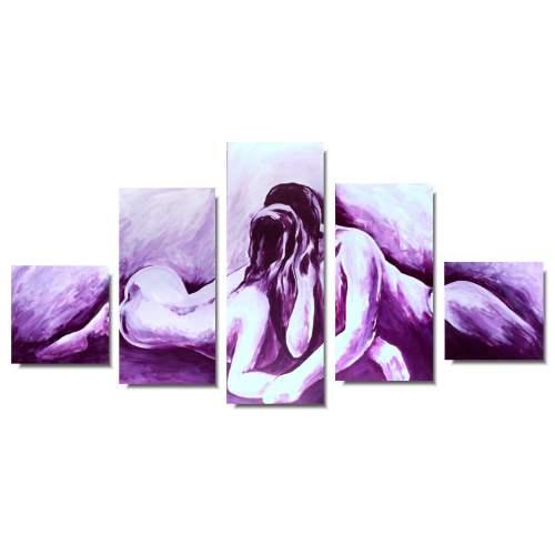 Obrazy akty w fioletowym kolorze