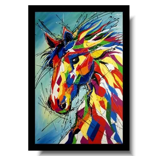Obraz nowoczesny radosny koń obrazy ze zwierzętami na płótnie 1747A