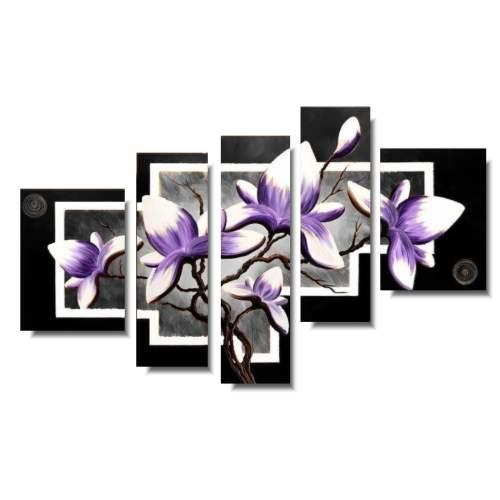 cudowny obraz z kwiatami