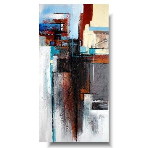 Duży pionowy obraz abstrakcyjny