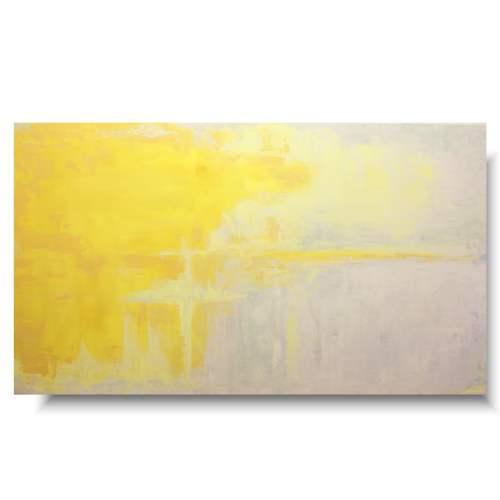 Elegancki duży obraz żółty krzyż