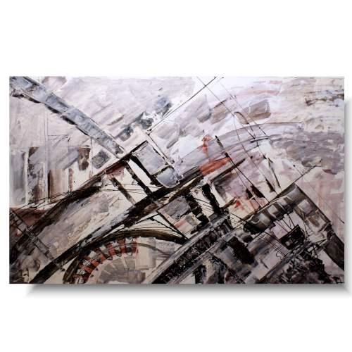 Abstrakcja beż krem obraz