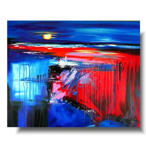 Duże obrazy abstrakcje mocny akcent 1765A