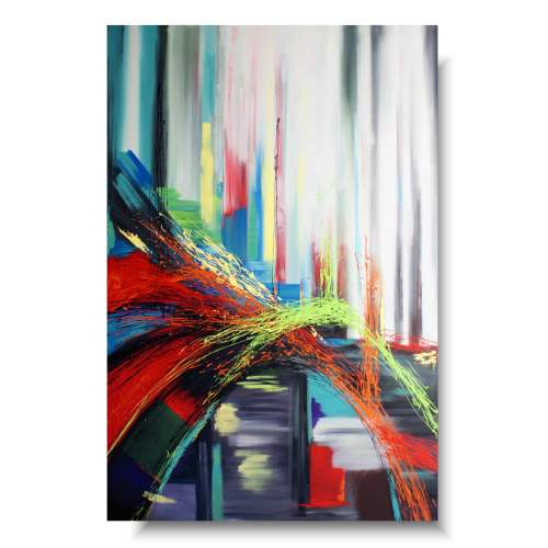 Obraz abstrakcja kolorowa droga
