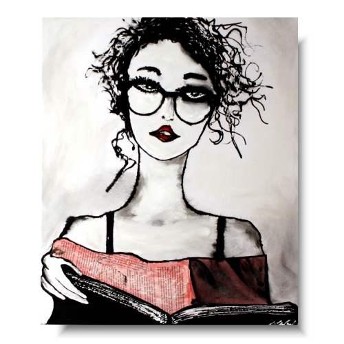 Portret kobieta czytająca
