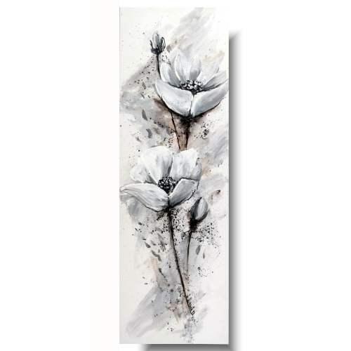 Obraz kwiaty delikatne białe maki