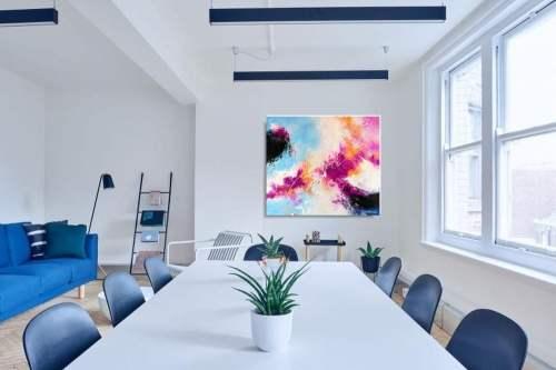 Sztuka współczesna abstrakcja letnie niebo