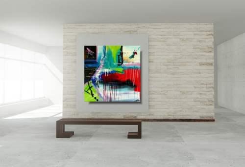 Duża abstrakcja obraz beztroska