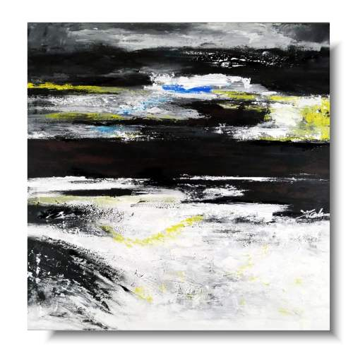 Elegancki obraz abstrakcja czarne chmury