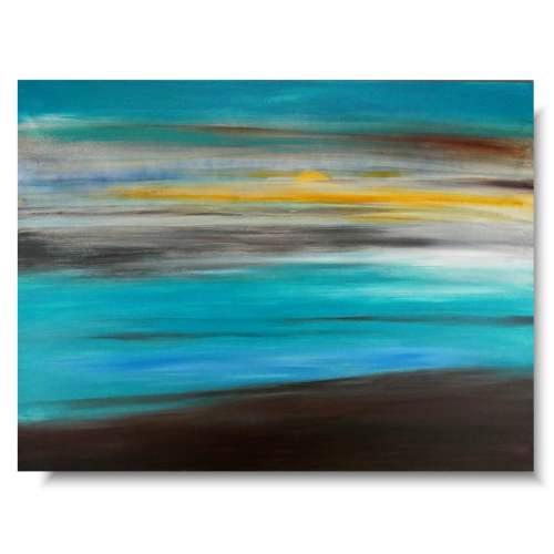 Obraz minimalistyczny turkusowe morze